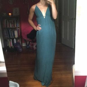 UO teal maxi dress